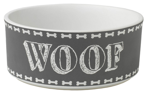 "Chalk It Up ""Woof"" Bowl"
