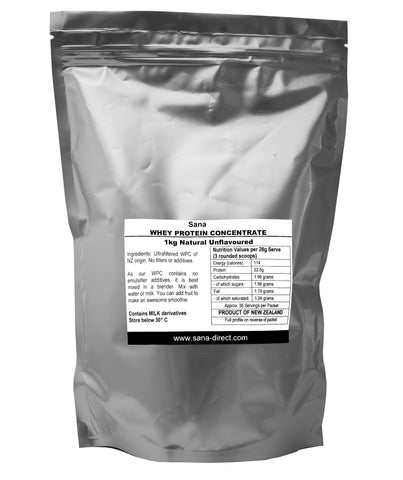 Whey Protein Concentrate - Natural Unflavoured 1 kg