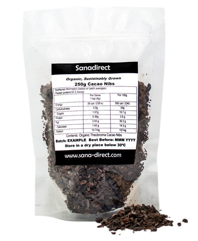 Raw Cacao Nibs 250g and 500g