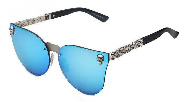 Limited Edition Gothic Metal Skull Sunglasses