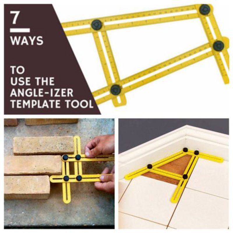 Multi Angle Measuring Ruler - All angle forms in one Ruler template!