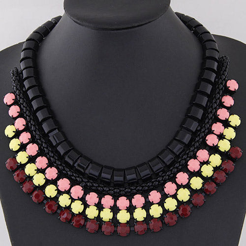 Collar fashion multicolores vintage
