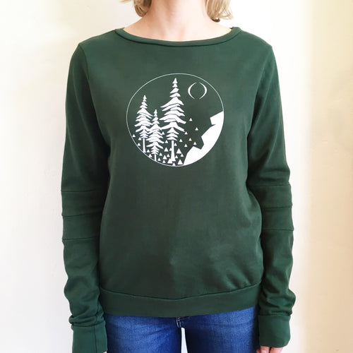 The FOREST Hinge Sweatshirt in Evergreen -- Color Cloud Mill