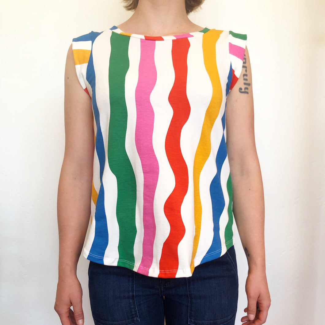 The MUSCLE Tee in Salvation Stripe -- Nooworks