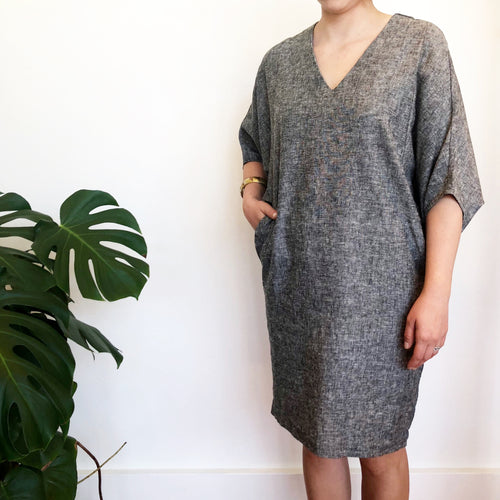 The Heather Chambray Caftan -- Ginger