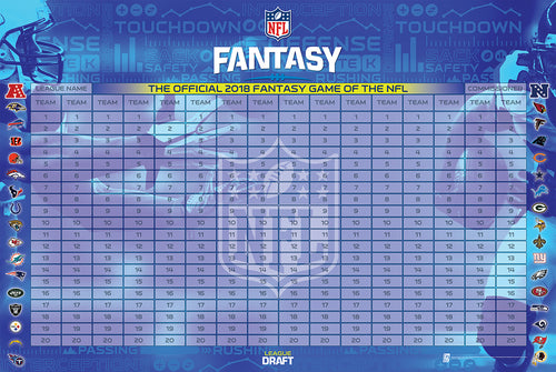 NFL Officially Licensed 2018 Fantasy Football Draft Kit - Now With Over 500 Player and Team Defense Labels!