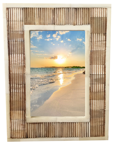 "Natural Faux Bone Photo Frame (4"" x 6"")"