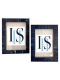 Indigo Blue Inlay Photo Frame