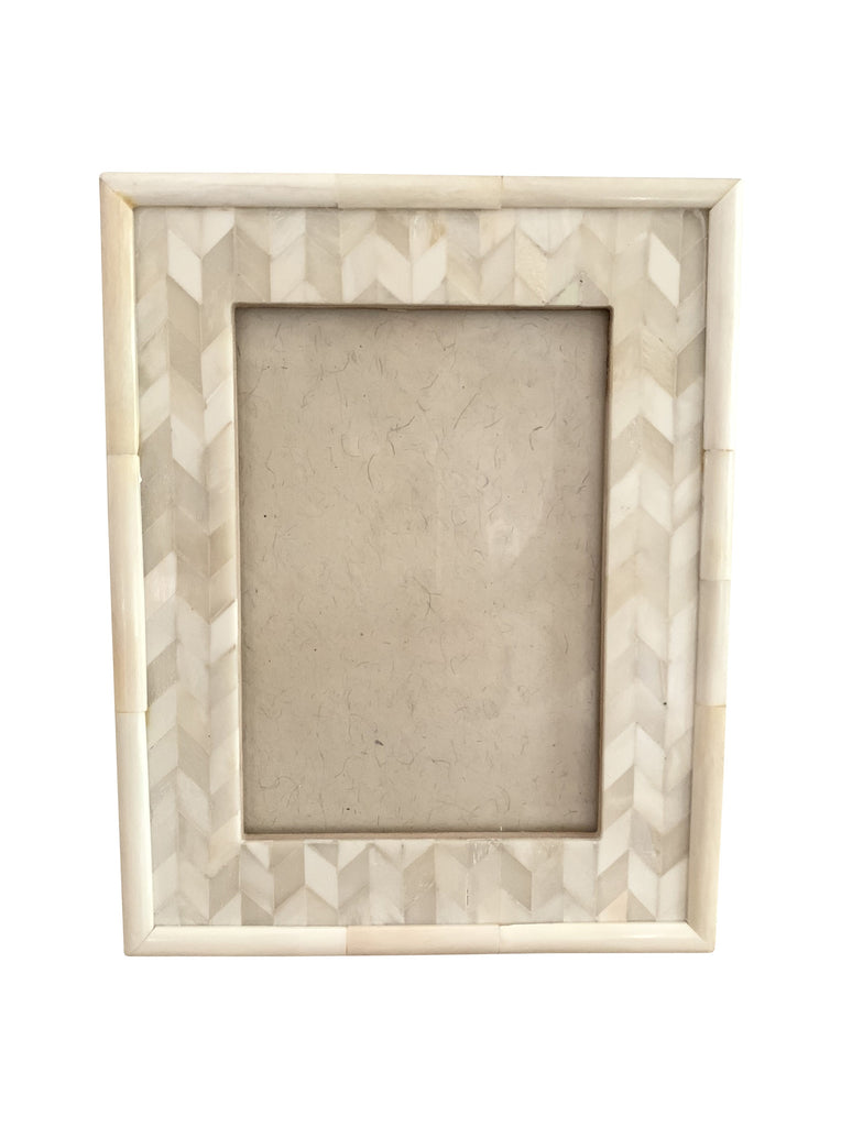 Natural Chevron Inlay Photo Frame