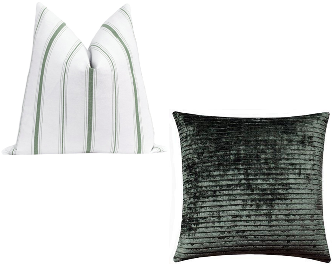 Green Stripe Cushion Cover Bundle