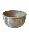 Ribbed Brass Pot