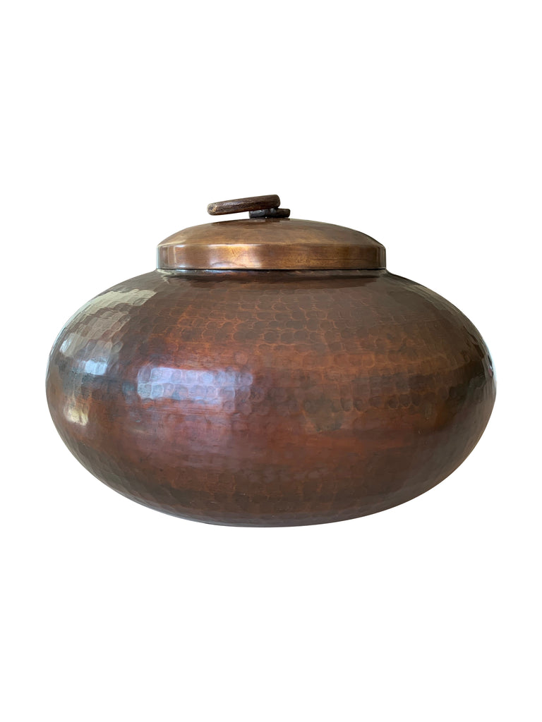 Large Antique Brass Pot (short)