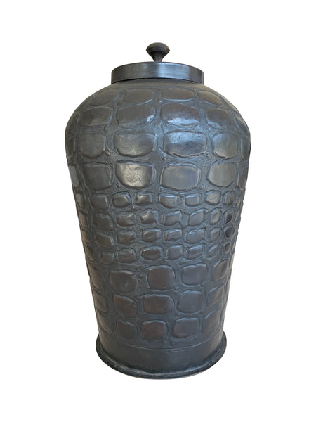 Crocodile Brass Canister