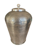 Brass Canister (Antique Silver Finish)