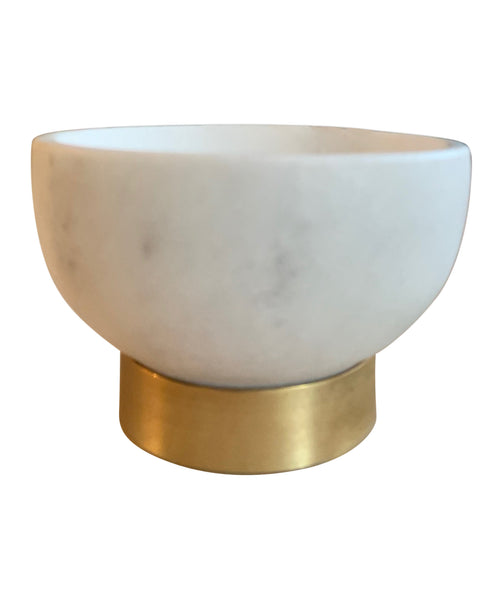 Marble Bowl with Brass Base