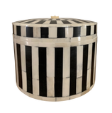 Round Stripe Bone Inlay Box