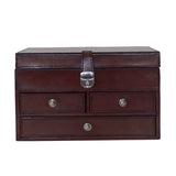 Tan Leather Jewellery Box