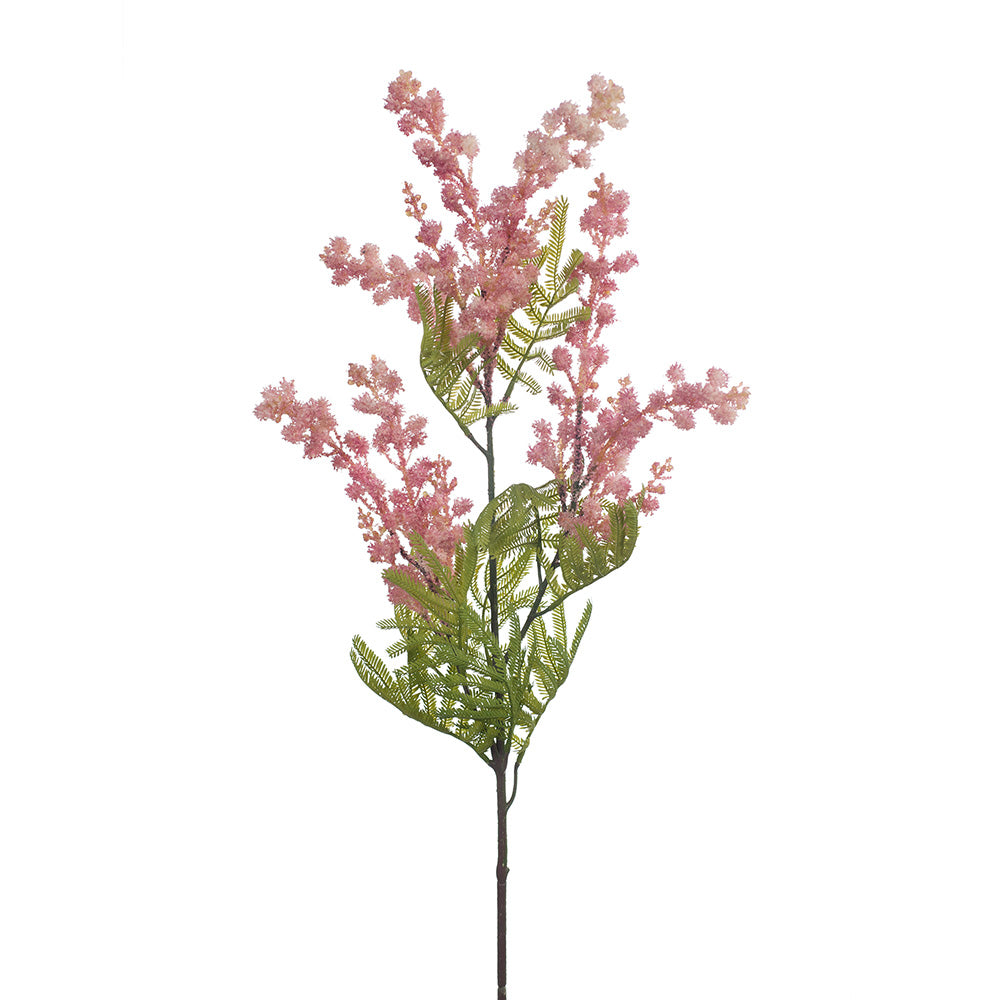 Artificial Mimosa Spray (Pink Stem)