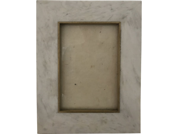 "Marble with Brass Inlay Photo Frame (5"" x 7"")"