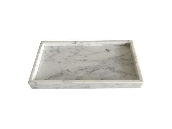 Rectangle Carrara Marble Tray