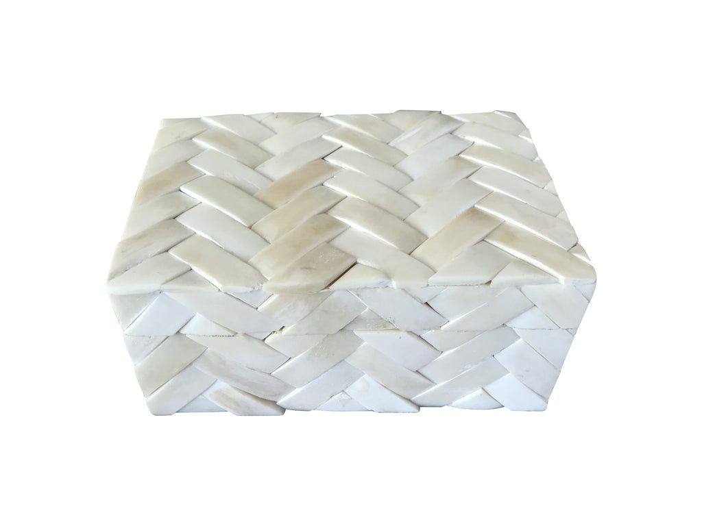 Basket Weave Bone Inlay Box (Small)