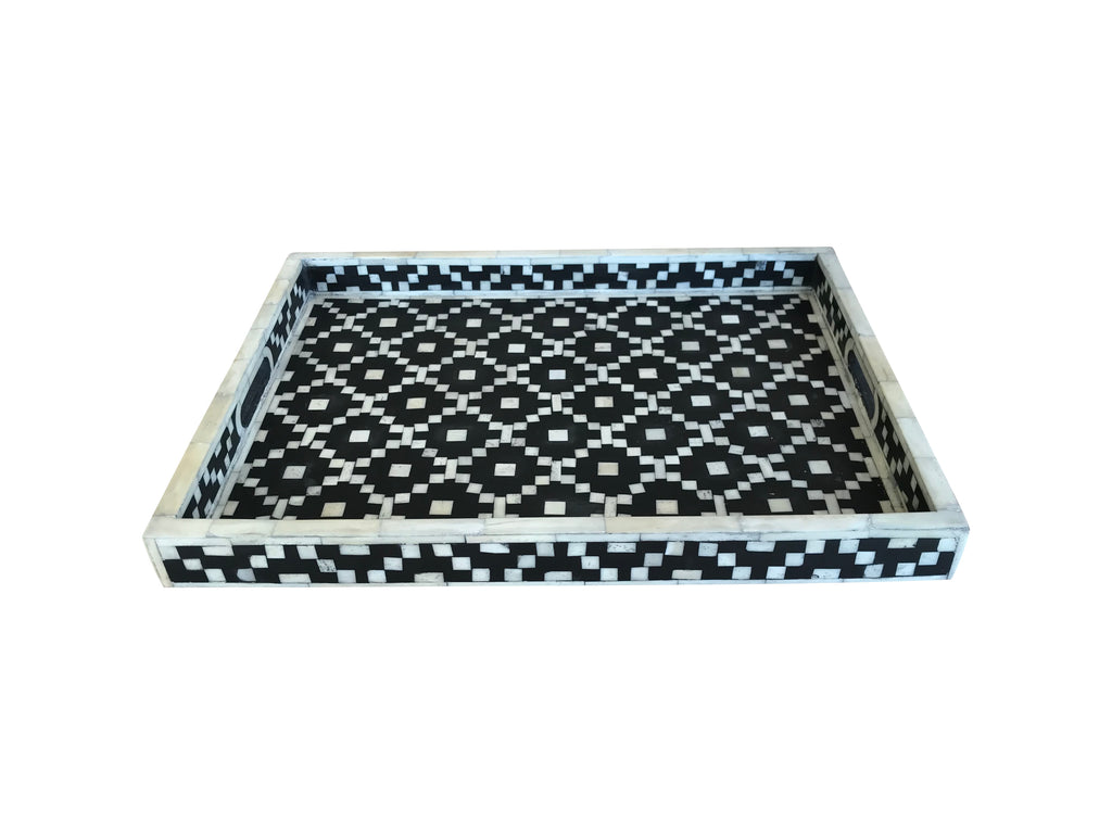 Black Diamond Bone Inlay Tray