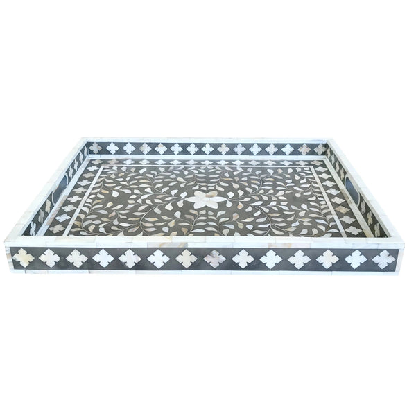 Grey Mother of Pearl Flower Tray