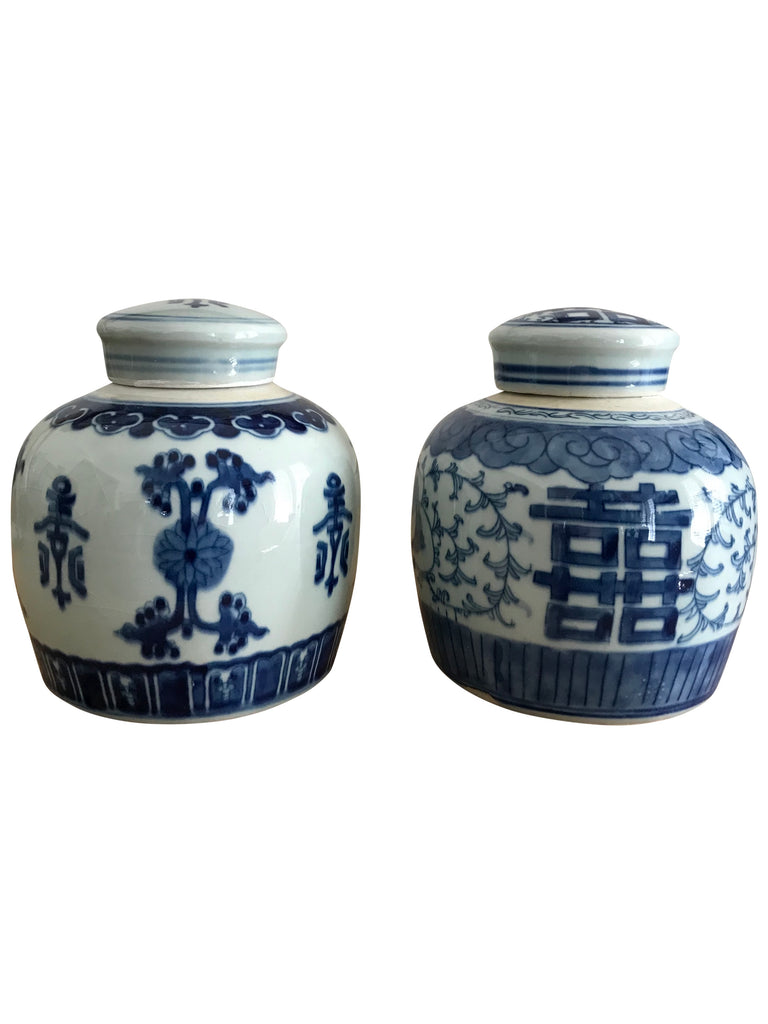 Small Ginger Jars (Flat Lid)