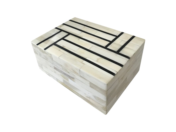 Black Stripe Bone Inlay Box