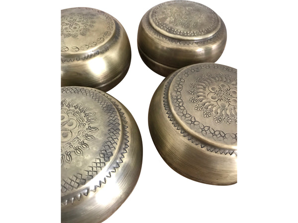 Vintage Brass Chapati Tins (Small)