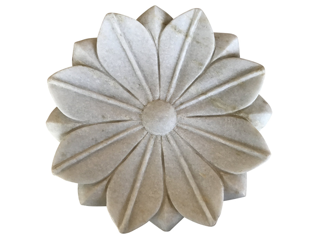 Marble Flower Plate (Large)