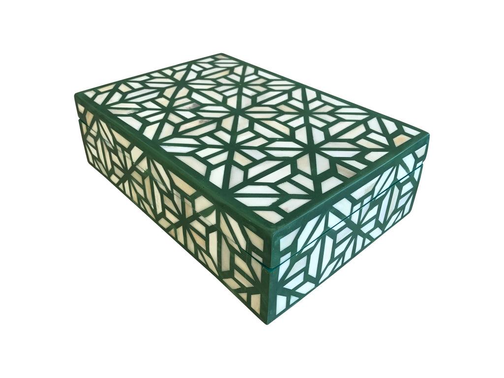 Emerald Green Bone Inlay Box