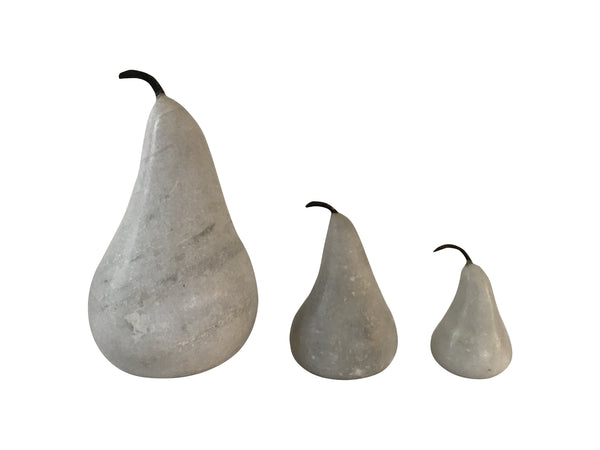 Marble Pears (White)