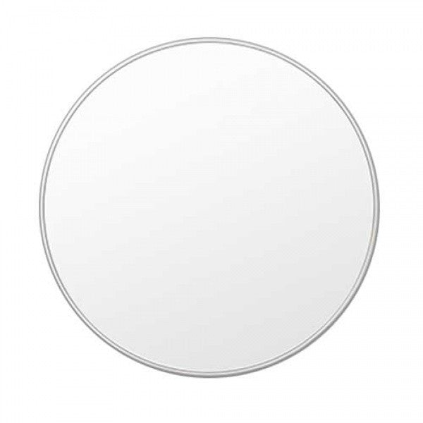 Simple Silver Finish Round Mirror