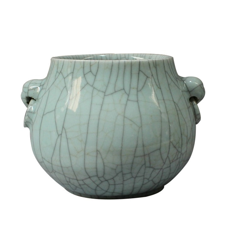 Crackle Glaze Pot