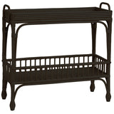 Rattan Bar Cart (Black)