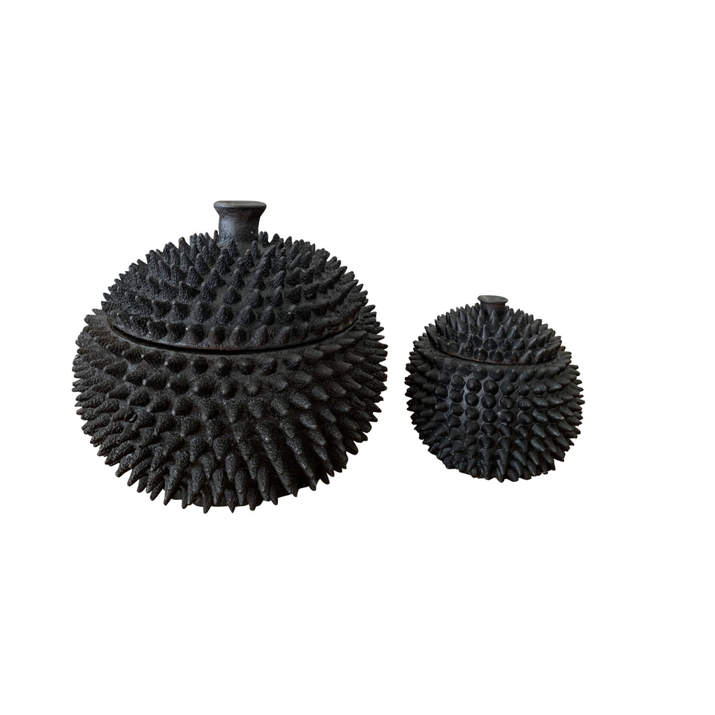 Durian Pot with Lid (Black)