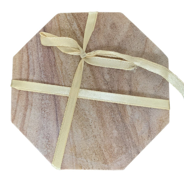 Indian Sandstone Marble Coasters (Set of 4)