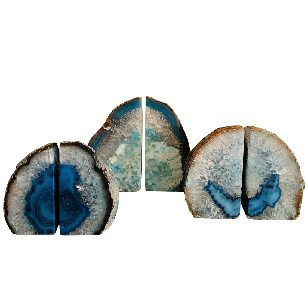 Agate Bookends (Blue)