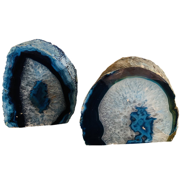 Agate Polished Geode (Blue)
