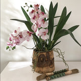 Artificial Orchid Leaf with Bulbs (stem)