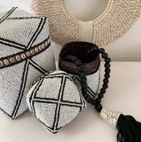 Coastal Beaded Boxes (White)