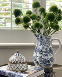 Blue Flower Jug
