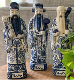 Blue and White Ceramic Chinese Gods