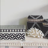 Coastal Beaded Boxes (Black)