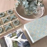 Light Blue and Cream Naughts and Crosses