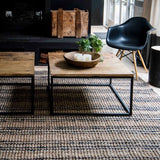Graphite/ Natural Stripe Jute Rug