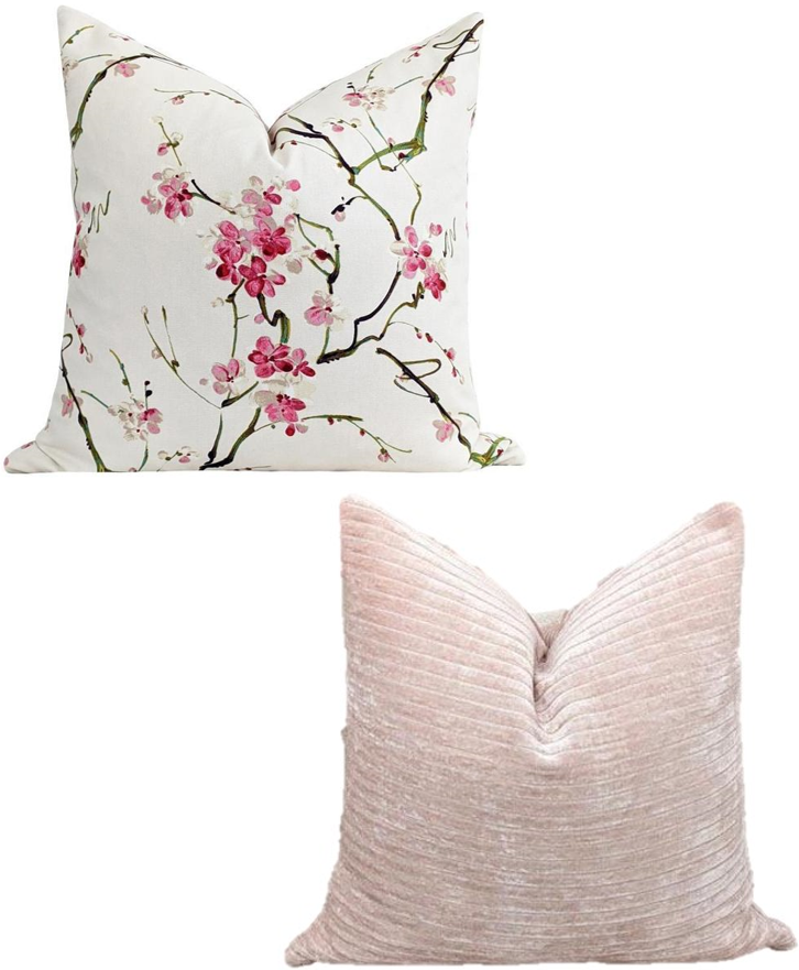 Pink Cherry Blossom Cushion Cover Bundle