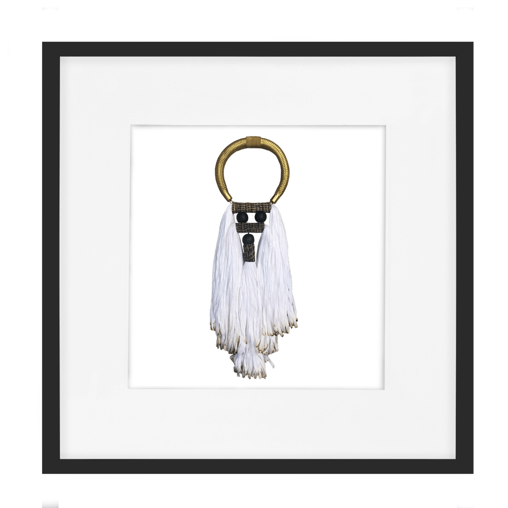 White Tassel (No 2) Textile Art