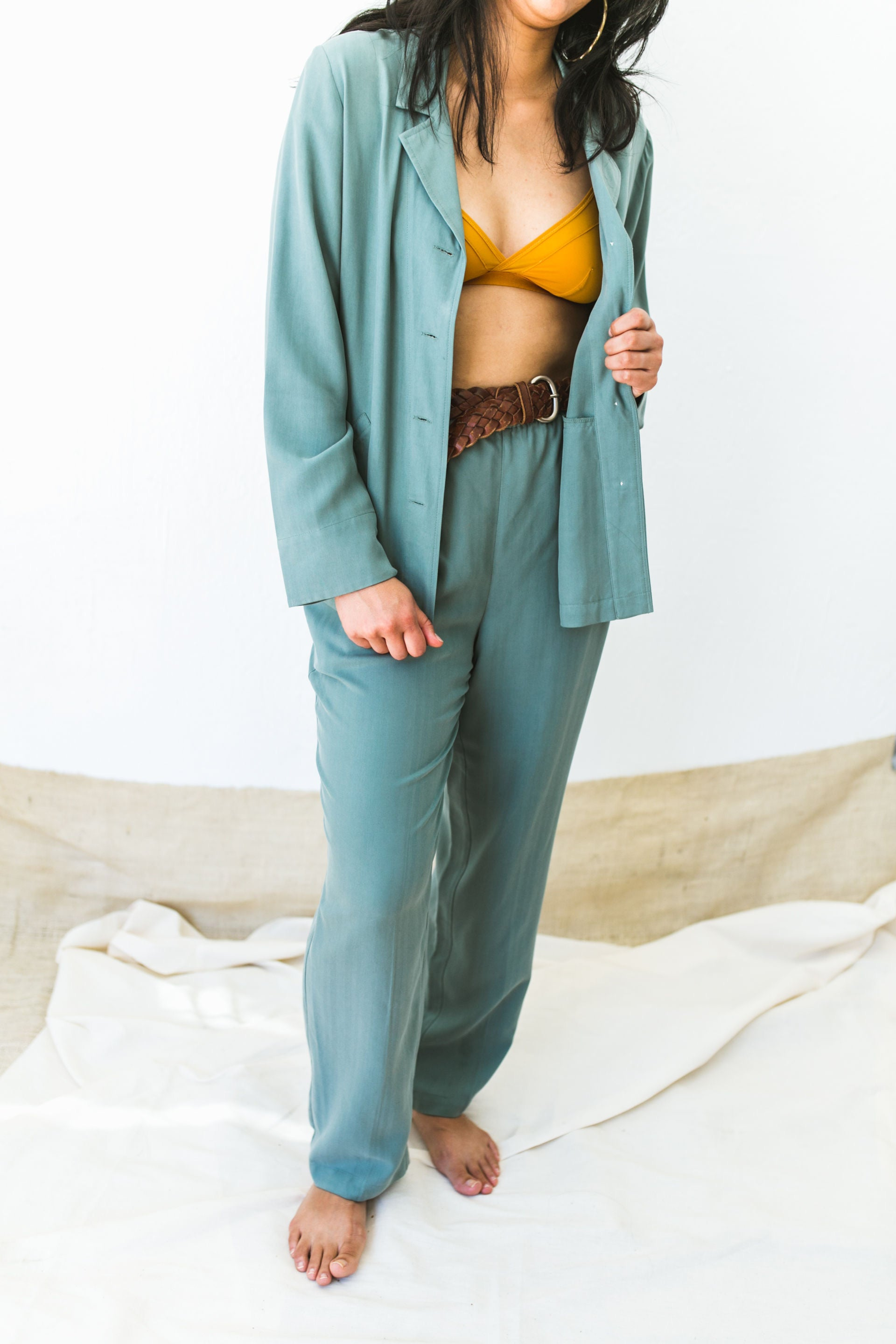 Pant Suit silk set